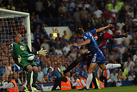 Photo: Tony Oudot.<br /> Chelsea v Blackburn Rovers. The FA Barclays Premiership. 15/09/2007.<br /> Andriy Shevchenko of Chelsea comes close to scoring but the shot is saved by Brad Friedel of Blackburn