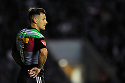 Danny Care of Harlequins looks on - Photo mandatory by-line: Patrick Khachfe/JMP - Mobile: 07966 386802 12/09/2014 - SPORT - RUGBY UNION - London - Twickenham Stoop - Harlequins v Saracens - Aviva Premiership