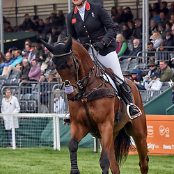 Gemma Tattershall Badminton Horse trials Gloucester, England, UK May 2019 Editorial. Gemma Tattershall equestrian eventing  representing Great Britain riding Arctic Soul in the Badminton Horse Trials Badminton Horse trials 2019 Winner Piggy French wins the title