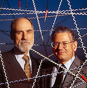 Vinton Cerf (L) and Robert Kahn designers of the internet. Backed by the U.S. Defense Department in 1973 they laid down the foundation that became the Net before it blew up into the civilian population.