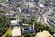 Nederland, Noord-Brabant, Breda, 23-08-2016; <br /> Centrum Breda met Onze Lieve Vrouwe Kerk (Grote Kerk Breda). Het Kasteel van Breda en de KMA (Koninklijke Militaire Academie) in de voorgrond.<br /> Overview city centre Breda.<br /> <br /> aerial photo (additional fee required); <br /> luchtfoto (toeslag op standard tarieven); copyright foto/photo Siebe Swart