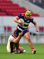 Will Capon of Bristol Rugby is tackled - Mandatory by-line: Paul Knight/JMP - 22/10/2017 - RUGBY - Ashton Gate Stadium - Bristol, England - Bristol Rugby v Doncaster Knights - B&I Cup