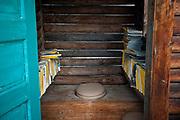 John's outhouse.