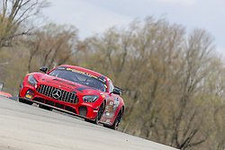 May 4, 2018 - Lexington, Ohio, United States of America - The Ramsey Racing Mercedes-AMG races through the turns at the Mid-Ohio 120 at Mid Ohio Sports Car Course in Lexington, Ohio. (Credit Image: © Walter G Arce Sr Asp Inc/ASP via ZUMA Wire)