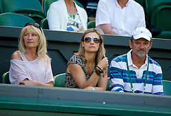 03.07.2014, All England Lawn Tennis Club, London, ENG, WTA Tour, Wimbledon, Tag 10, im Bild Parents of Lucie Safarova Jana [L] and Milan during the Ladies' Singles Semi-Final match on day ten // during day 10 of the Wimbledon Championships at the All England Lawn Tennis Club in London, Great Britain on 2014/07/03. EXPA Pictures © 2014, PhotoCredit: EXPA/ Propagandaphoto/ David Rawcliffe<br /> <br /> *****ATTENTION - OUT of ENG, GBR*****