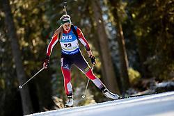 Lisa Theresa Hauser (AUT) in action during the Women 7,5km Sprint at day 7 of IBU Biathlon World Cup 2018/19 Pokljuka, on December 8, 2018 in Rudno polje, Pokljuka, Pokljuka, Slovenia. Photo by Urban Urbanc / Sportida