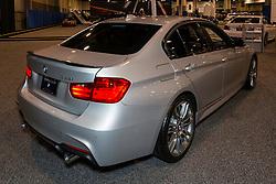 CHARLOTTE, NORTH CAROLINA - NOVEMBER 20, 2014: BMW 335i sedan on display during the 2014 Charlotte International Auto Show at the Charlotte Convention Center.