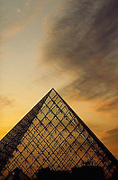 1994, Paris, France --- The Pyramid of the Louvre covers the main entrance and reception hall of the Louvre Museum, Paris, France. --- Image by © Owen Franken/CORBIS