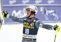 05.03.2017, Podkoren, Kranjska Gora, SLO, FIS Weltcup Ski Alpin, Kranjska Gora, Slalom, Herren, 2. Lauf, im Bild Julien Lizeroux (FRA) // Julien Lizeroux of France reacts after his 2nd run of men's Slalom of FIS ski alpine world cup at the Podkoren in Kranjska Gora, Slovenia on 2017/03/05. EXPA Pictures © 2017, PhotoCredit: EXPA/ Johann Groder