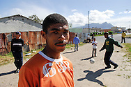 """Steeet Footbal Social Project """"Great Commission United""""  is based in Heideveld, Cape Town, and uses soccer to entice boys in the community to the club and away from gang activity. GCU aims to provide the boys in the community with activities after school until the evening and currently has nearly 100 members ranging in age from 8 to 21."""