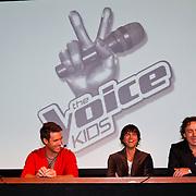 NLD/Aalsmeer/20120125 - Persconferentie the Voice Kids, Coaches Angela groothuizen, Nick, Schilder, Simon Keijzer, Marco Borsato
