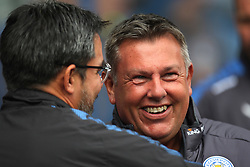 Leicester City manager Craig Shakespeare (R) and Huddersfield Town manager David Wagner before the match - Mandatory by-line: Jack Phillips/JMP - 16/09/2017 - FOOTBALL - The John Smith's Stadium - Huddersfield, England - Huddersfield Town v Leicester City - English Premier League