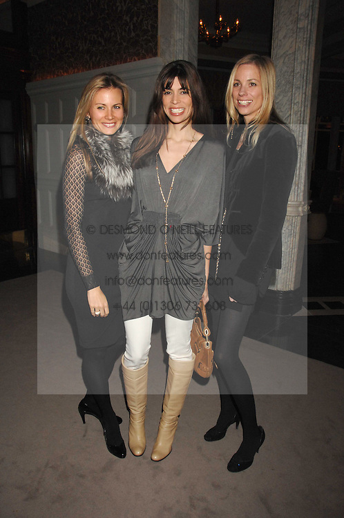 Left to right, JANE GOTTSCHALK, LISA BILTON and KATE DRIVER at a party to celebrate the launch of the Astley Clarke Fine Jewellery Collection held at The Connaught hotel, London W1 on 28th February 2008.<br /><br />NON EXCLUSIVE - WORLD RIGHTS