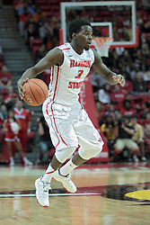 11 January 2014:  Daishon Knight during an NCAA  mens basketball game between the Ramblers of Loyola University and the Illinois State Redbirds  in Redbird Arena, Normal IL.  Redbirds win 59-50