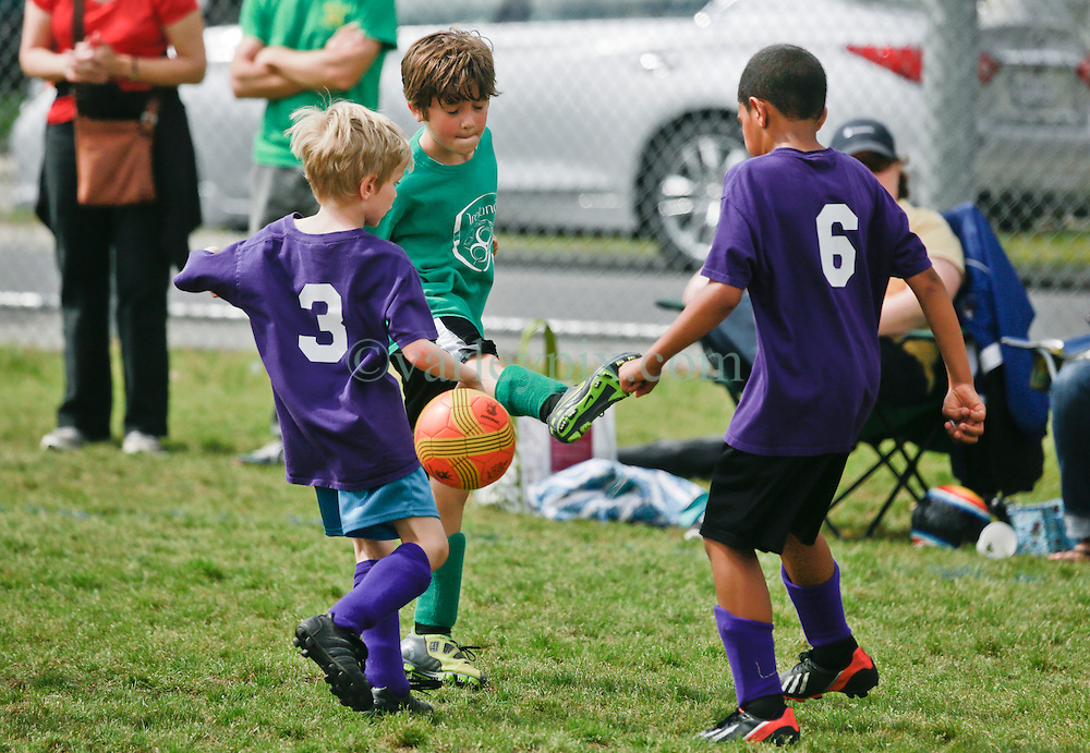 12 April 2014. Carrolton Boosters Soccer. New Orleans, Louisiana. <br /> U8 Championship semi finals. Team Ireland take on the KP Wildcats. <br /> Photo; Charlie Varley