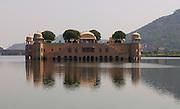 Floating Palace - Jal Mahal - Mogul Palace on Man Sagar Lake - Jaipur - India 2011