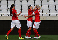 Fifa Womans World Cup Canada 2015 - Preview //<br /> Cyprus Cup 2015 Tournament ( Gsp Stadium Nicosia - Cyprus ) - <br /> Australia vs England 0-3   // Jodie Taylor of England , celebrates after his 1th Goal (0-1) with team mates Steph Houghton (R) and Jill Scott (L)