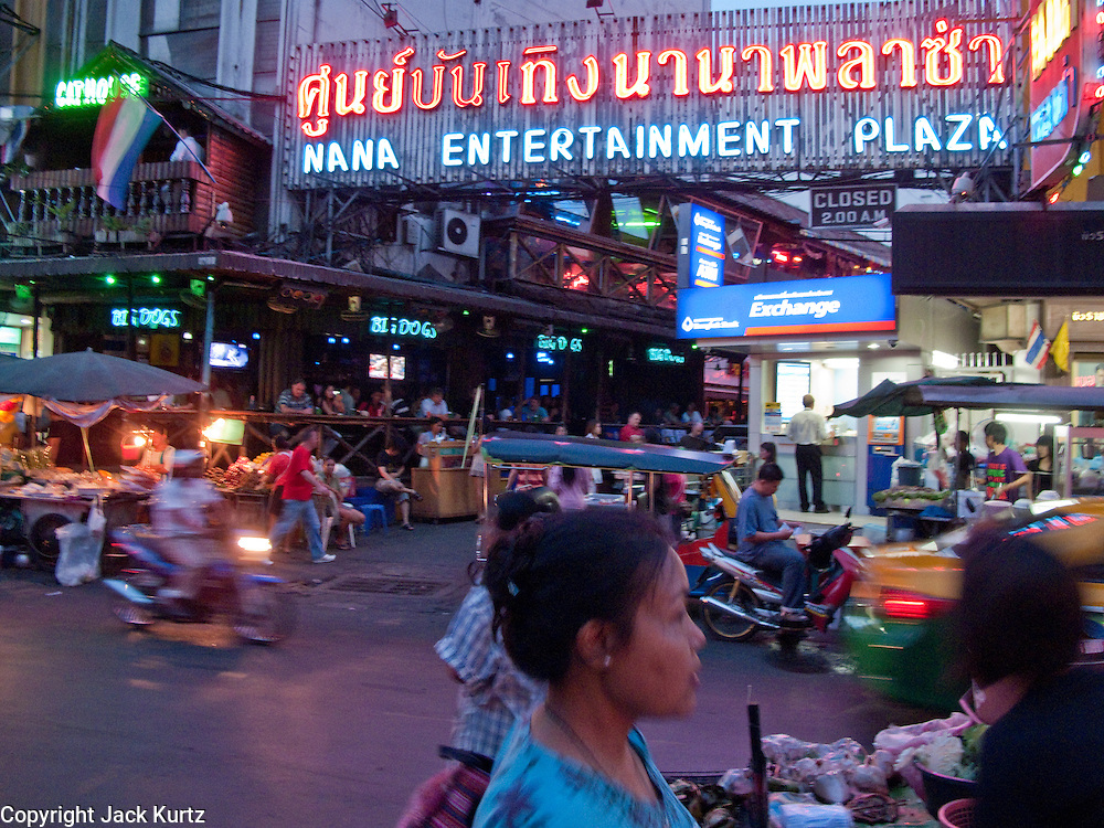 Mar. 23, 2009 -- BANGKOK, THAILAND: The entrance to the Nana Entertainment Plaza, the infamous Soi Nana red light district in Bangkok. Photo by Jack Kurtz