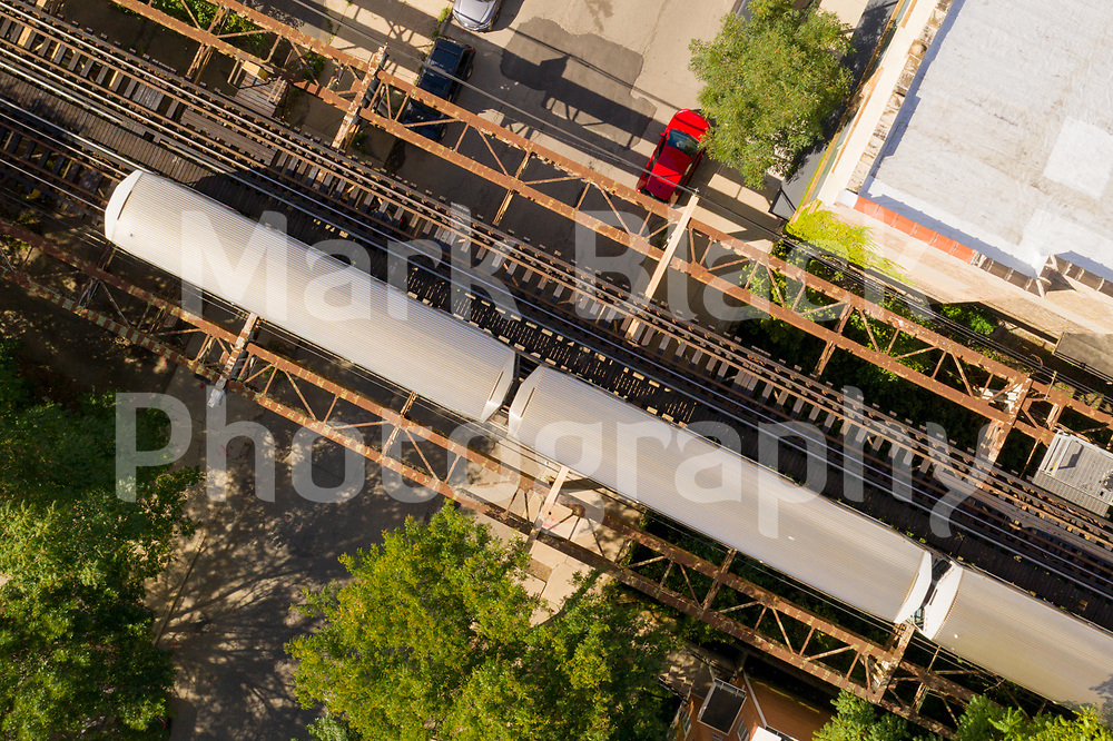 Chicago L Train from above in Chicago on Friday, Sept. 4, 2020. Photo by Mark Black