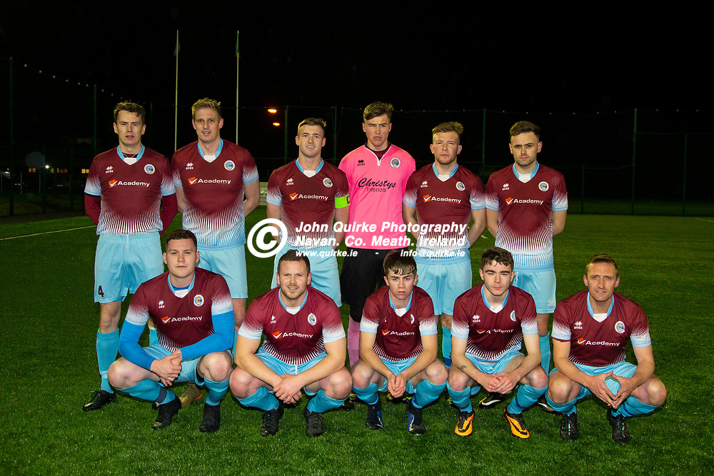 03/11/2019, Challenge Cup Quarter Final at MDL.<br /> Parkvilla vs Enfield<br /> Parkvilla Team, Back Row, L-R, Chris Kennedy, Gary O`Dowd, Lee Fahy, Elan Nevin, Jay Colton, Jamie Blake.<br /> Front Row, L-R, James Friary, Ciaran Rogers, Joey Moran, Jordan Conway, Andy Williamson<br /> Photo: David Mullen / www.quirke.ie ©John Quirke Photography, Unit 17, Blackcastle Shopping Cte. Navan. Co. Meath. 046-9079044 / 087-2579454.<br /> ISO: 800; Shutter: 1/1250; Aperture: 4; <br /> File Size: 2.7MB