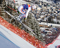 22.01.2011, Hahnenkamm, Kitzbuehel, AUT, FIS World Cup Ski Alpin, Men, Downhill, im Bild // Adrien Theaux (FRA) // during the men downhill race at the FIS Alpine skiing World cup in Kitzbuehel, EXPA Pictures © 2011, PhotoCredit: EXPA/ S. Zangrando