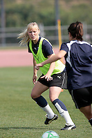 19 March 2009: 23 year old Swedish player Johanna Frisk of the Los Angeles SOL Women's Soccer Team  during a mid-day pre-season practice at the Track and Field stadium at Home Depot Sports Complex in Carson, California.