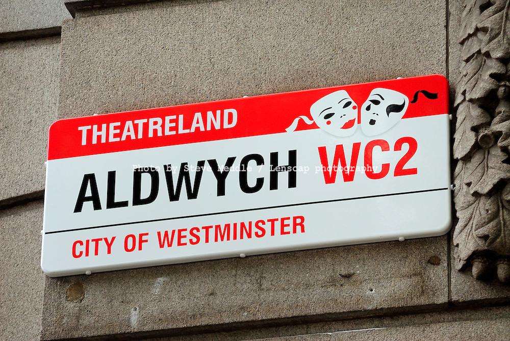 Aldwych, Street Sign, London, England, Britain - July 09