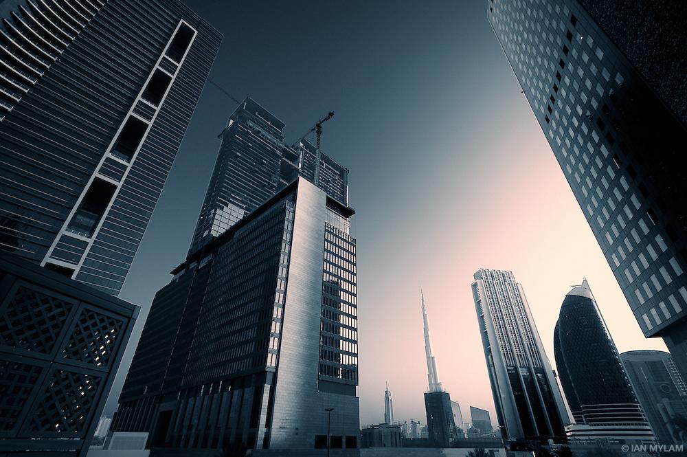 Burj Khalifa from the DIFC - Dubai, U.A.E.