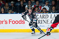KELOWNA, CANADA - OCTOBER 23: Dillon Dube #19 of Kelowna Rockets calls for the pass against the Prince George Cougars on October 23, 2015 at Prospera Place in Kelowna, British Columbia, Canada.  (Photo by Marissa Baecker/Shoot the Breeze)  *** Local Caption *** Dillon Dube;