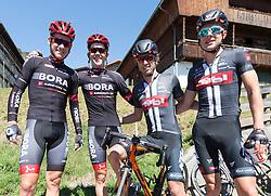 20.04.2016, Aras, AUT, 40. Giro del Trentino Melinda, 2. Etappe von Arno nach Aras, im Bild v.l. Patrick Konrad, Gregor Mühlberger, Clemens Fankhauser, Sebastian Schönberger // during the 2nd stage from Arco to Anras of 40th Giro del Trentino. Auras, Austria on 2015/04/20. EXPA Pictures © 2015, PhotoCredit: EXPA/ Johann Groder