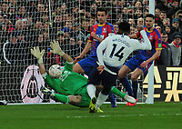 Football - 2018 / 2019 Emirates FA Cup - Fourth Round: Crystal Palace vs. Tottenham Hotspur<br /> <br /> Julian Speroni of Palace makes a point blank save from Tottenham's Georges - Kevin N'Koudou, at Selhurst Park.<br /> <br /> COLORSPORT/ANDREW COWIE