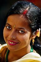 Nepalese woman, Durbar Square, Kathmandu, Nepal