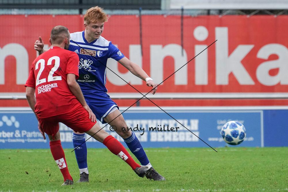 19.10.2019; Wohlen; Fussball 1.Liga - FC Wohlen - Zug 94;<br /> Nicolas Kuenzli (Wohlen) <br /> (Andy Mueller/freshfocus)