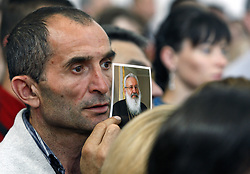 June 5, 2017 - Kiev, Ukraine - Greek Catholic believers attend the funeral ceremony of Ukrainian Cardinal LUBOMYR HUSAR at the Patriarchal Cathedral of the Resurrection of Christ, in Kiev, Ukraine, on 05 June 2017. Ex-head of the Ukrainian Greek Catholic Church LUBOMYR HUSAR died at the age of 84, on 31 May 2017. (Credit Image: © Serg Glovny via ZUMA Wire)