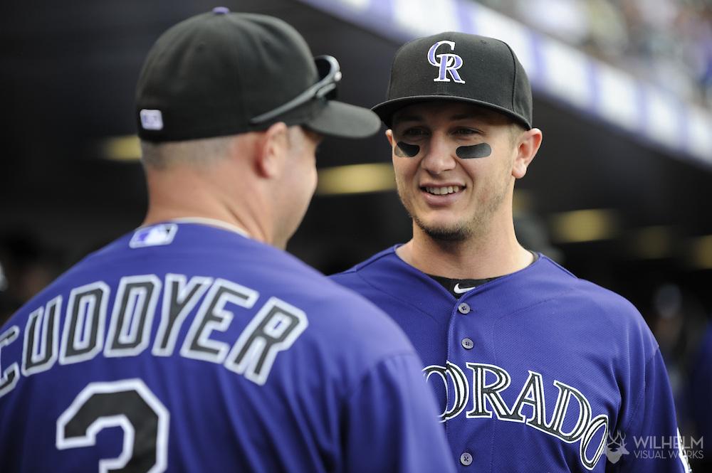 01 May 2012: Colorado Rockies vs. the Los Angeles Dodgers at Coors Field in Denver, CO.  ©2012 Brett Wilhelm