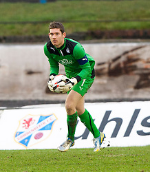 Falkirk's keeper Michael McGovern.<br /> Cowdenbeath 0 v 2 Falkirk, Scottish Championship game today at Central Park, the home ground of Cowdenbeath Football Club.<br /> © Michael Schofield.