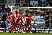 Photo: Greig Cowie<br />Nationwide League Division 1. Coventry v Wimbledon. 08/03/2003<br />Neil Shipperly celebrates the dons equaliser