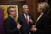 RICHARD BARNES; JEREMY PAXMAN; LOUISE GARCZEWSKA, The Brown's Hotel Summer Party hosted by Sir Rocco Forte and Olga Polizzi, Brown's Hotel. Albermarle St. London. 14 May 2015