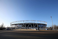 a General view of outside the London Stadium  several hours before k/o. Premier league match, West Ham Utd v Manchester Utd at the London Stadium, Queen Elizabeth Olympic Park in London on Monday 2nd January 2017.<br /> pic by John Patrick Fletcher, Andrew Orchard sports photography.