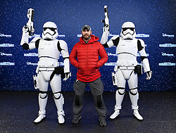 Tom Hardy (C) with Stormtroopers at the launch of Star Wars: Season Of The Force on January 21, 2017 in Disneyland Paris, France. Photo by Jon Furniss/Disney/ABACAPRESS.COM