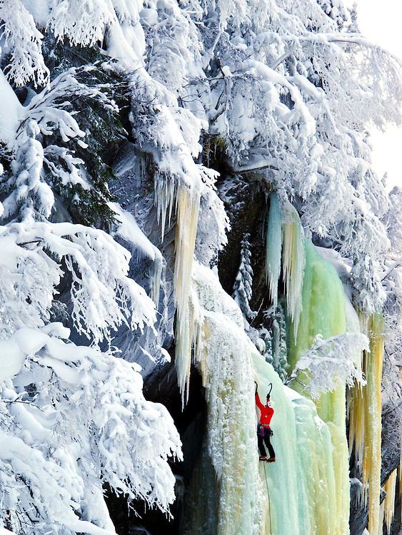 Ice-climbing in Rujkan, Norway