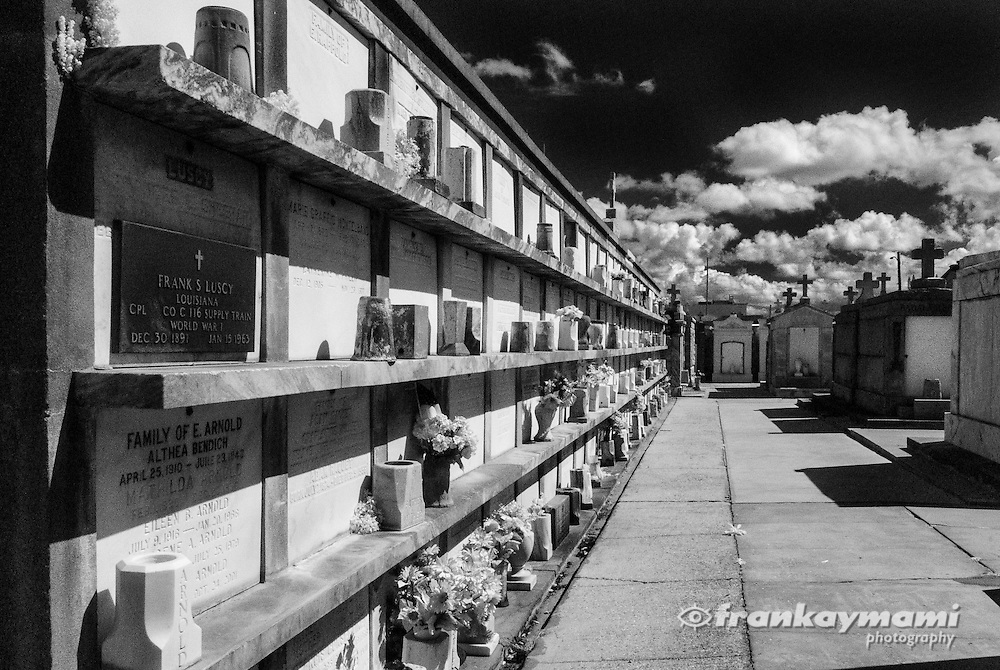 Infrared images of St. Roch 1 & 2 Cemeteries in New Orleans, LA
