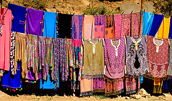Garments for sale from a stall in the Todra Gorge, Morocco<br /> <br /> (c) Andrew Wilson   Edinburgh Elite media
