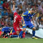 Turkey's Emre BELOZOGLU (C) during their UEFA EURO 2012 Qualifying round Group A soccer match Turkey betwen Kazakhstan at TT Arena Istanbul September 02, 2011. Photo by TURKPIX