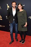 Openingsavond van het Nederlands filmfestival met de premiere van De Held.<br /> <br /> op de foto:  Nasrdin Dchar en partner