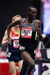 New Balance Indoor Grand Prix track meet: Men's 3000 meter, Haron Lagat paces Rupp