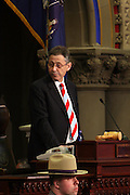 Speaker of the House, Sheldon Silver at Swearing-in of the Honorable David A. Patterson as 55th Governor of New York  at The New York State Capitol in the Assembly Chambers on March 17, 2008