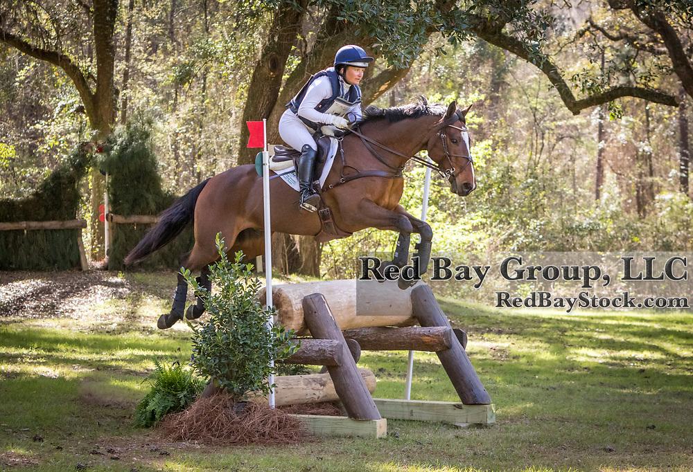 Hannah Sue Burnett (USA) and Coolrock Wacko Jacko the Red Hills International Horse Trials in Tallahassee,  Florida.