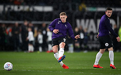 Derby County's Martyn Waghorn in the warm up before the Sky Bet Championship match at Pride Park, Derby.