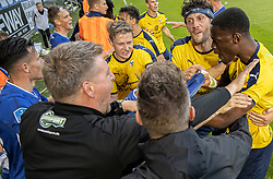 Tumult under kampen i 3F Superligaen mellem Lyngby Boldklub og Hobro IK den 20. juli 2020 på Lyngby Stadion (Foto: Claus Birch).